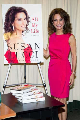"Susan Lucci attends a book signing for ""All My Life: A Memoir"" at Barnes & Noble in New York, Tuesday, March 29, 2011. (AP Photo/Charles Sykes)"